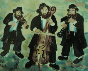 Traditional-Klezmer-band-original-gouache-by-Sarah-Hagay-Copy