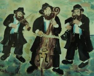 Traditional-Klezmer-band-original-gouache-by-Sarah-Hagay-Copy